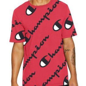 Red Men's Short Sleeve Champion T-shirt size XL